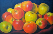 Autumn Apples 24x36   Oil on Canvas, wired and ready to hang.