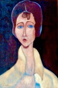 Modigliani's Muse   24x36  $2.000