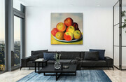 "Showcasing ""Apples in the Country""  42x42  US$2.900"