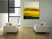 "Showcasing  ""Fallow Fields"" 44x50   US$3.400"