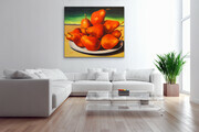 "Showcasing  ""Red Pears in Sunset"" 48x54  US$3.700"