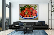 "Showcasing ""Strawberry Faire""   48x60  US$4.200"