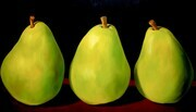 Trio of Green Pears    36x54     US$3.700